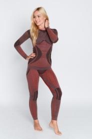 Термокофта женская с шерстью альпаки Haster Hanna Style Alpaca Wool (SL60w104) - красная
