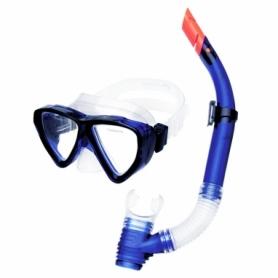 Маска для плавания детская Spokey Quarius Junior (84098), синяя
