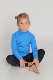 Комплект термобелья детский лыжный Double (SL8039) - голубой