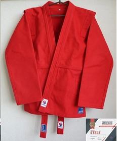 Куртка для самбо Stels FIAS красная