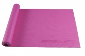Коврик для йоги (йога-мат) SportVida PVC 4 мм SV-HK0049 Pink