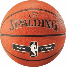 Мяч баскетбольный Spalding NBA Silver Outdoor №7
