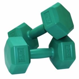 Гантели для фитнеса пластиковые 2 шт. по 4 кг SportVida SV-HK0220