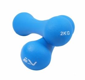 Гантели для фитнеса виниловые 2 шт. по 2 кг SportVida SV-HK0031