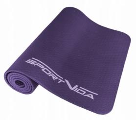 Коврик для йоги и фитнеса текстурированный SportVida NBR 1 см SV-HK0071 Violet