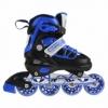 Коньки роликовые раздвижные Nils Extreme Black/Blue (NA0328A)
