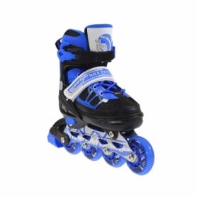 Коньки роликовые раздвижные Nils Extreme Black/Blue (NA0328A) - Фото №3