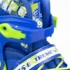 Коньки роликовые раздвижные Nils Extreme Blue (NA1005A) - Фото №6