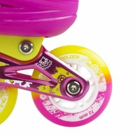 Коньки роликовые раздвижные Nils Extreme Pink (NA1005A) - Фото №7