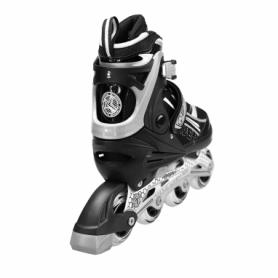 Коньки роликовые раздвижные Nils Extreme Black (NA1123A) - Фото №4