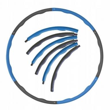 Обруч массажный Hula Hoop SportVida 100 см 1.2 кг SV-HK0157 Grey/Blue