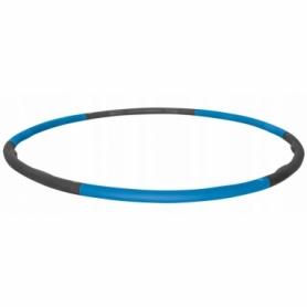 Обруч массажный Hula Hoop SportVida 100 см 1.2 кг SV-HK0157 Grey/Blue - Фото №2