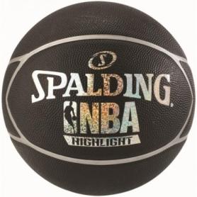Мяч баскетбольный Spalding NBA Highlight Black/Silver №7