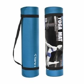Коврик для йоги и фитнеса HMS YM03 NBR 1 cм Blue