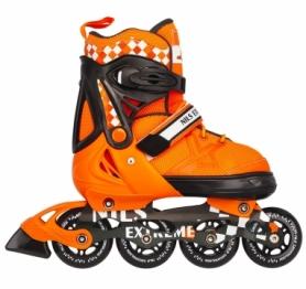 Коньки роликовые раздвижные Nils Extreme Orange (NA13911A)