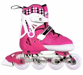 Коньки роликовые раздвижные Nils Extreme Pink (NA13911A)
