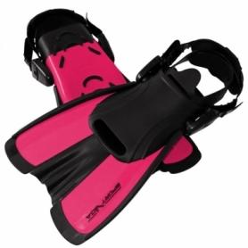 Ласты с открытой пяткой SportVida SV-DN0008JR розовые, размер S (29-33)