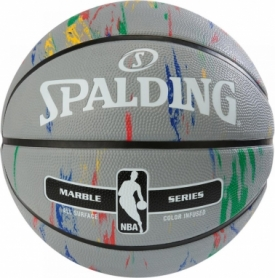 Мяч баскетбольный Spalding NBA Marble Outdoor Grey/Multi-Color №7