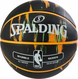 Мяч баскетбольный Spalding NBA Marble Outdoor Black/Orange/Green №7