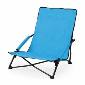 Кресло-лежак складное для пляжа SportVida (SV-ML0003), синее
