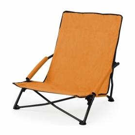 Кресло-лежак складное для пляжа SportVida (SV-ML0002), оранжевое