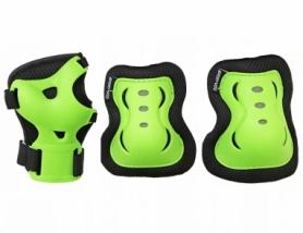 Защита для катания (комплект) SportVida Black/Green (SV-KY0001)