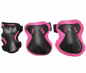 Защита для катания (комплект) SportVida Black/Pink (SV-KY0006)
