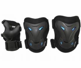 Защита для катания (комплект) SportVida Black/Blue (SV-KY0003)