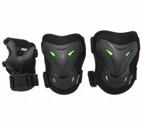 Защита для катания (комплект) SportVida Black/Green (SV-KY0004)