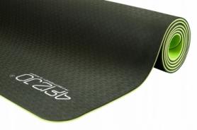 Коврик для йоги и фитнеса 4FIZJO TPE 6 мм 4FJ0032 Black/Green