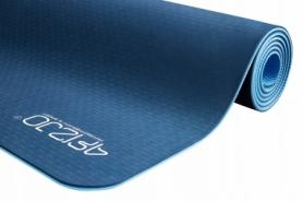 Коврик для йоги и фитнеса 4FIZJO TPE 6 мм 4FJ0033 Blue/Sky Blue