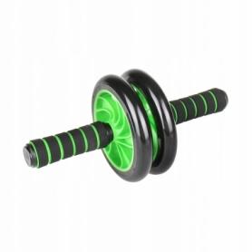 Ролик для пресса двойной 4FIZJO AB Wheel 4FJ0039 Green