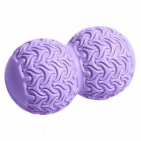 Мяч массажный двойной SportVida Massage Duoball 10x18 см SV-HK0235 Purple
