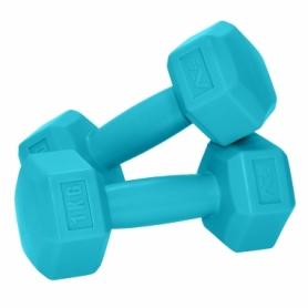 Гантели для фитнеса пластиковые 2 шт. по 1 кг SportVida SV-HK0217