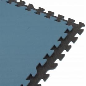 Коврик защитный SportVida Mat Puzzle 12 мм SV-HK0177 Black/Blue