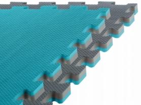 Татами ласточкин хвост SportVida Mat Puzzle Multicolor 100x100x2 cм SV-HK0178 Grey/Sky Blue