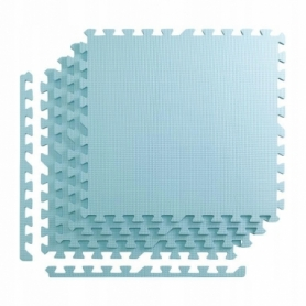 Покрытие напольное модульное ласточкин хвост 4FIZJO Mat Puzzle EVA 120x120x1 cм (4 шт.) Light Blue