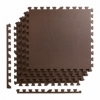Покрытие напольное модульное ласточкин хвост 4FIZJO Mat Puzzle EVA 120x120x1 cм (4 шт.) Braun