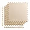 Покрытие напольное модульное ласточкин хвост 4FIZJO Mat Puzzle EVA 120x120x1 cм (4 шт.) Beige