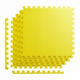 Покрытие напольное модульное ласточкин хвост 4FIZJO Mat Puzzle EVA 120x120x1 cм (4 шт.) Yellow