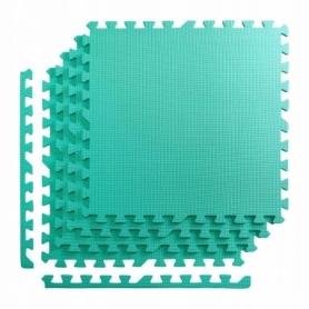 Покрытие напольное модульное ласточкин хвост 4FIZJO Mat Puzzle EVA 120x120x1 cм (4 шт.) Mint