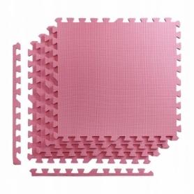 Покрытие напольное модульное ласточкин хвост 4FIZJO Mat Puzzle EVA 120x120x1 cм (4 шт.) Pink