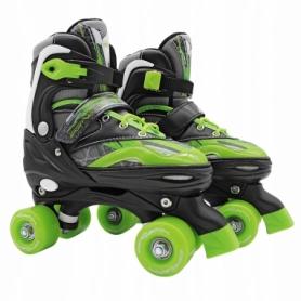Коньки роликовые раздвижные (квады) SportVida Black/Green (SV-LG0037)