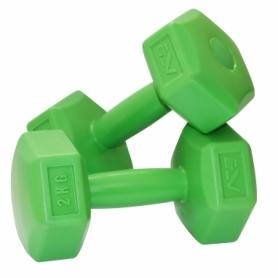 Гантели для фитнеса пластиковые 2 шт, по 2 кг SportVida (SV-HK0218)