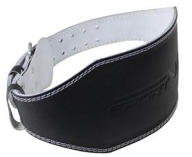 Пояс для тяжелой атлетики с экокожи SportVida SV-AG0065 Black