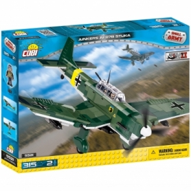 Конструктор COBI Вторая Мировая Война Самолет Юнкерс Ю-87, 315  деталей (COBI-5521)