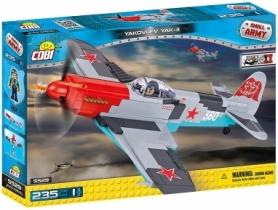 Конструктор COBI Вторая Мировая Война Самолет Як-3, 235 деталей (COBI-5529)
