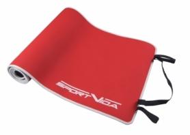 Коврик для йоги и фитнеса SportVida Neopren (SV-HK0039) Red, 6 мм