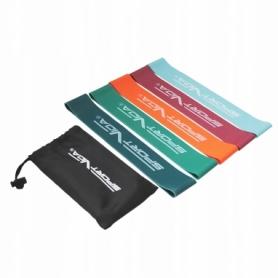Резинка для фитнеса и спорта SportVida Mini Power Band (SV-HK0206), 5 шт 0-25 кг