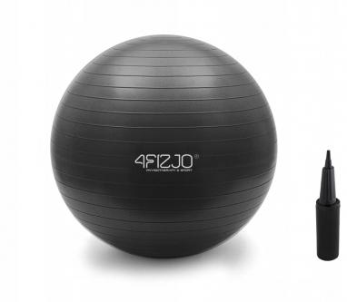 Мяч для фитнеса 4FIZJO Anti-Burst Black (4FJ0028), 85 см